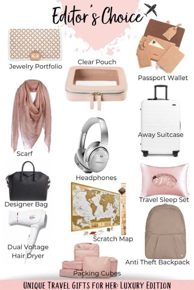 25+ Unique Travel Gifts for Women: Luxury Edition