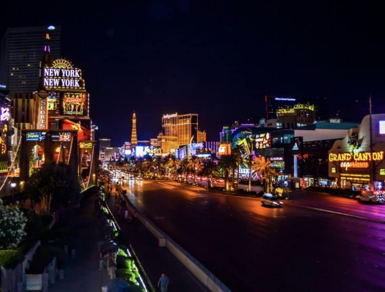 Las Vegas Strip at night - Where to stay in Vegas first time Best places to stay in Las Vegas