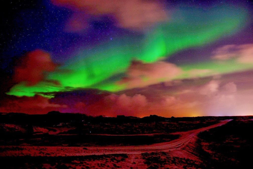 Iceland in Winter - View of Northern Lights
