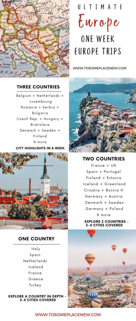 One Week in Europe Trip Itineraries