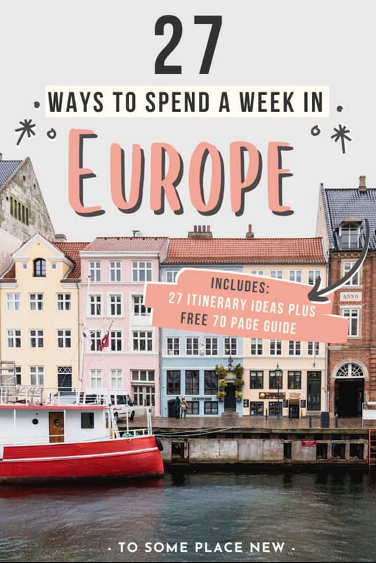Pin for One week in Europe Itinerary