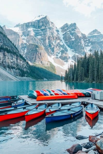 Lake Moraine in Banff Itinerary 5 days