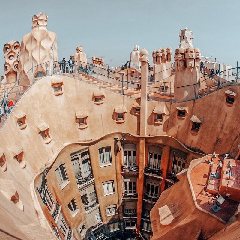 Casa Mila Views in Barcelona