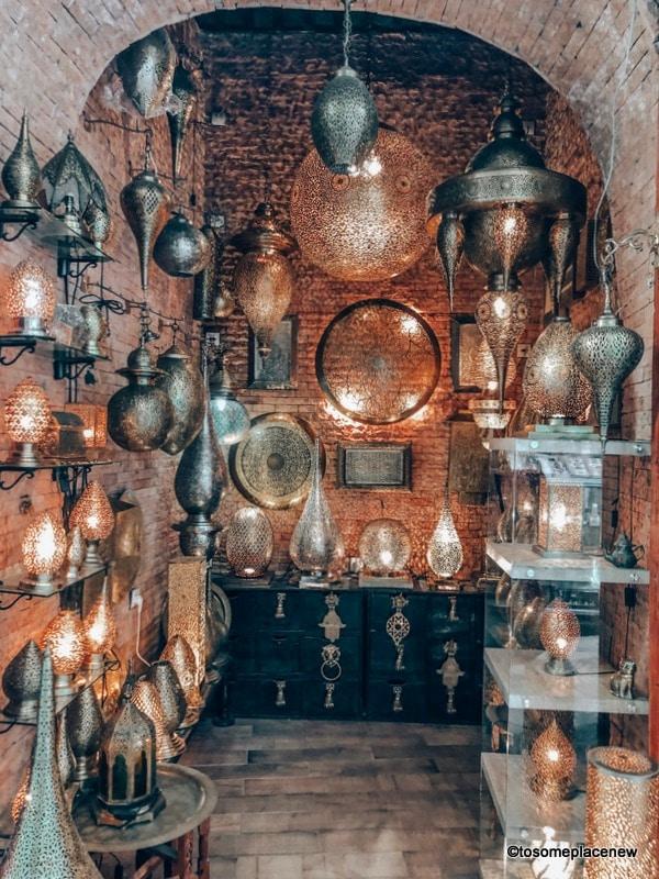 Lanterns at Fes Medina Lanes