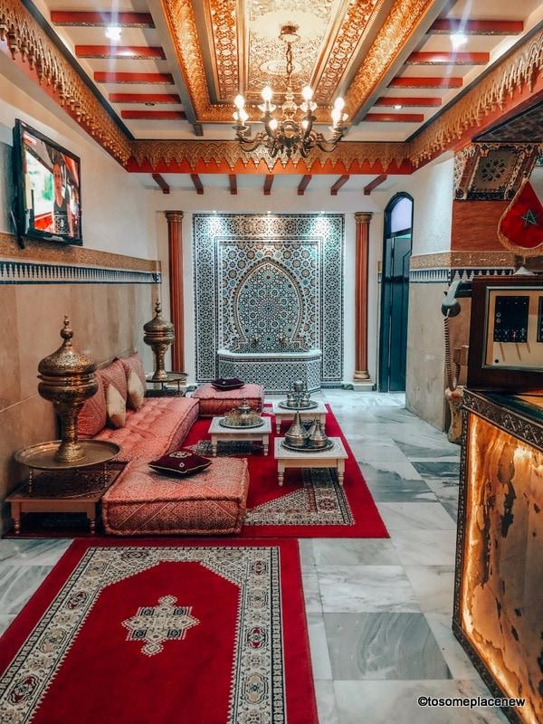 Tangier Accomodation Hotel Mamora reception area