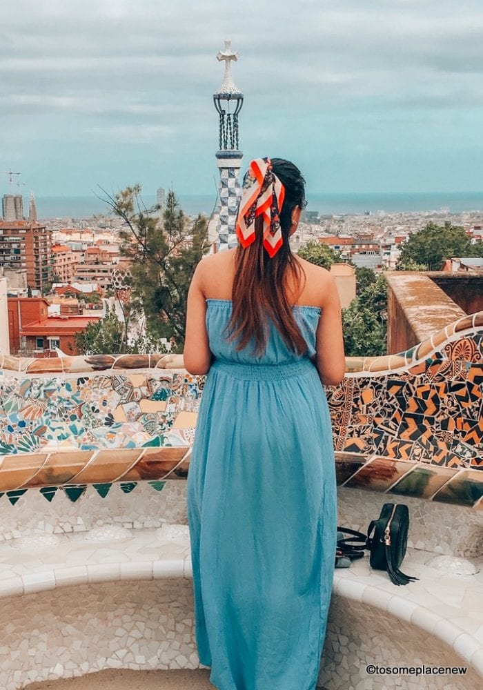 Barcelona views from Park Guell