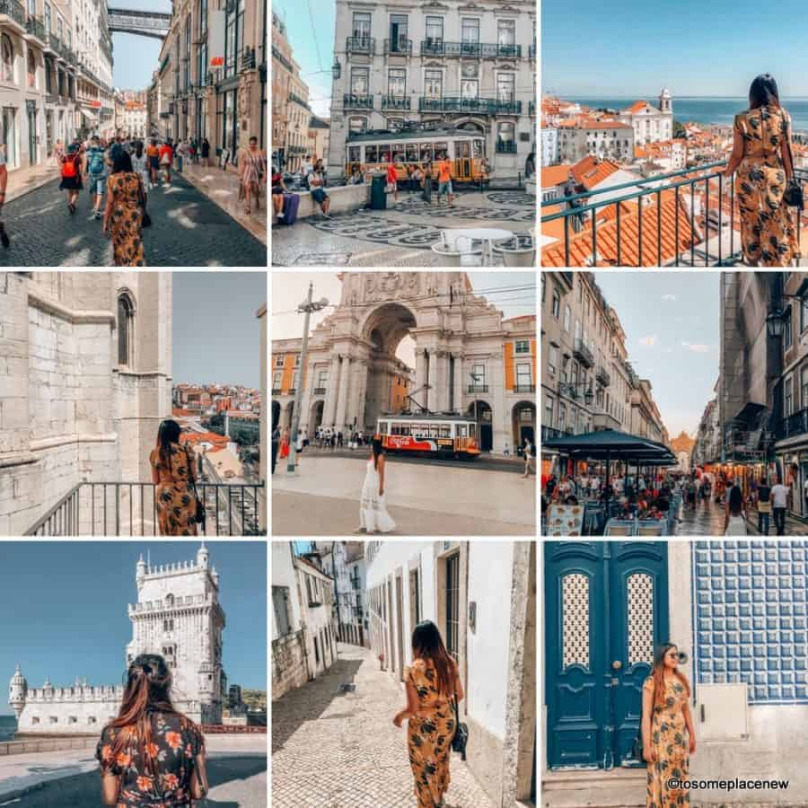 Images and glimpses of Best photo spots in Lisbon photography tips