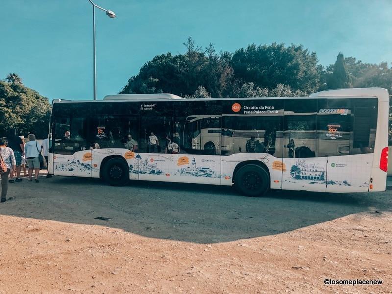 Bus 434 Sintra to Pena Palace