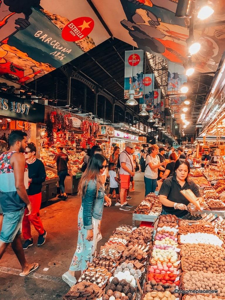 Historic La Boqueria Market Barcelona