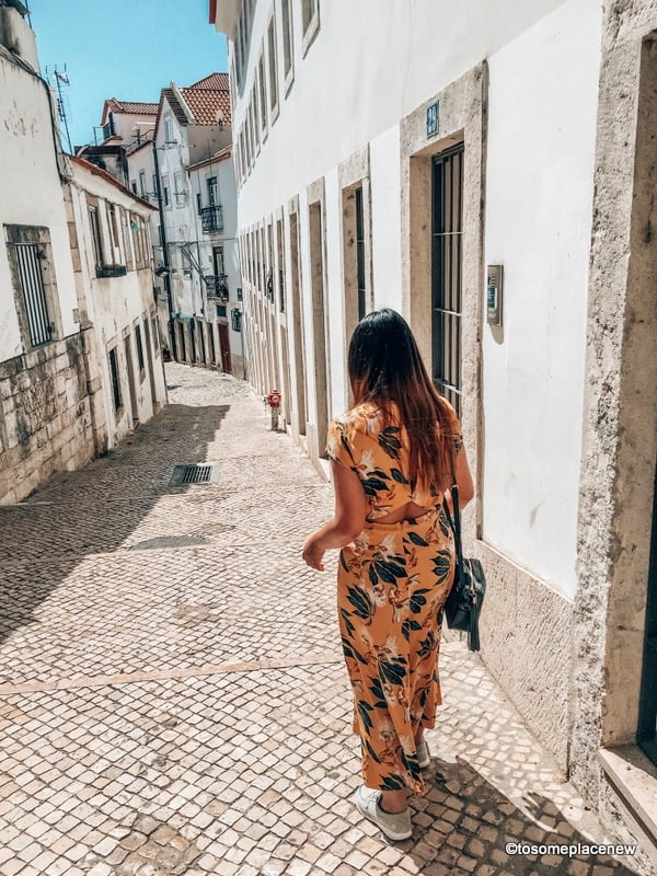 Mayuri wandering through the Lanes of Alfama