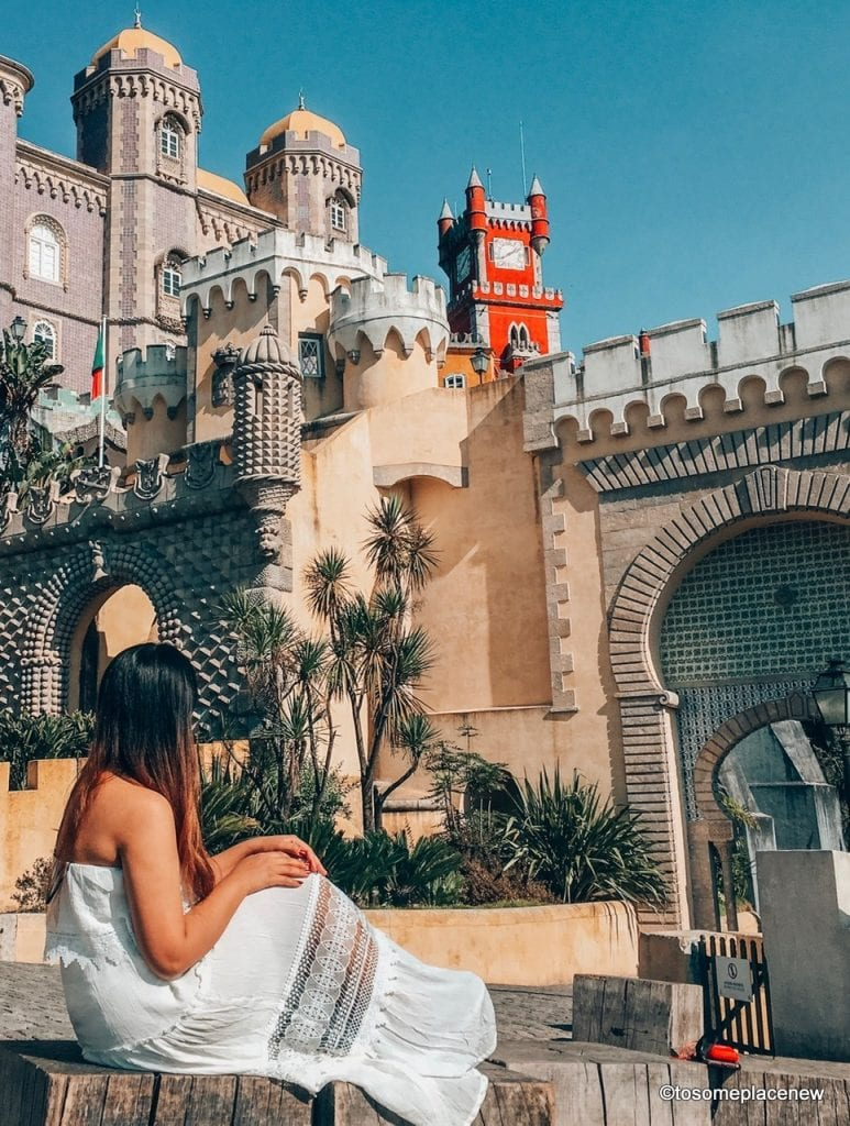 Girl in front of Pena Palace