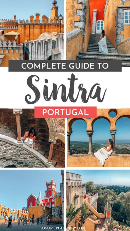 Sintra Portugal day trip from Lisbon | Explore the finest Sintra Portugal Castles with Cabo da Raco, Quinta de Regeleira in one day | Get inspired by Sintra Portugal Photography Pena Palace Gardens and more #sintra #portugal #tosomeplacenew