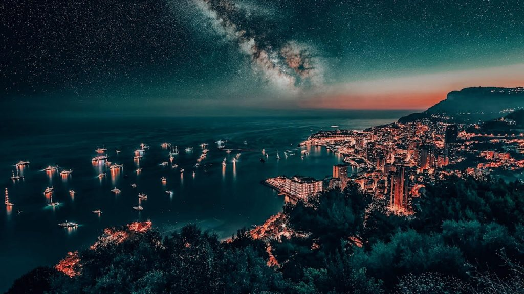 Monaco at night - best places in south of france