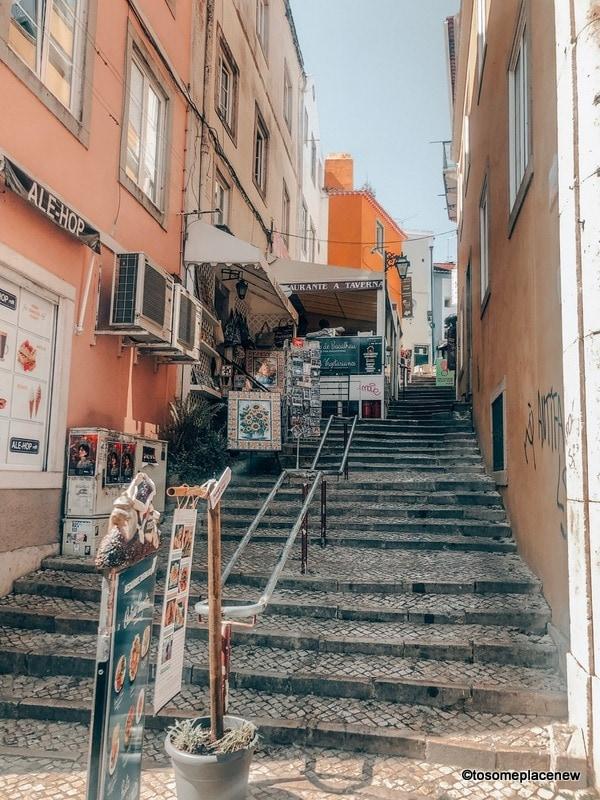 Sintra town centre alleys