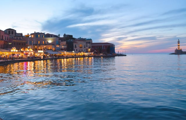 Venetian Port in the evening - Visit Chania in February