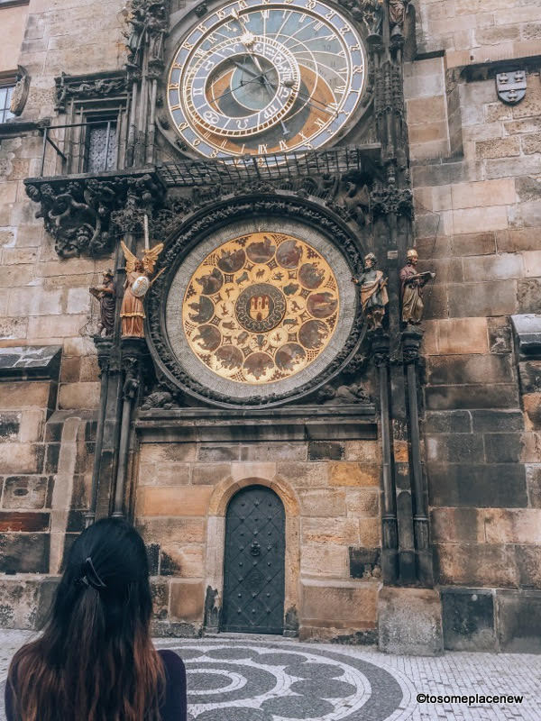 Astronomical Clock in Prague in March