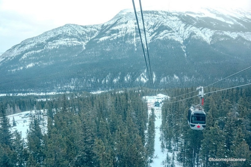 Banff Gondola Ride in late November
