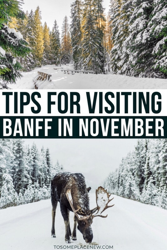 Tips for visiting Banff in November