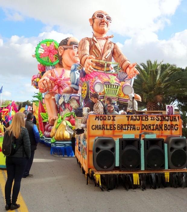 Warmest places in Europe in February- Carnival in Malta