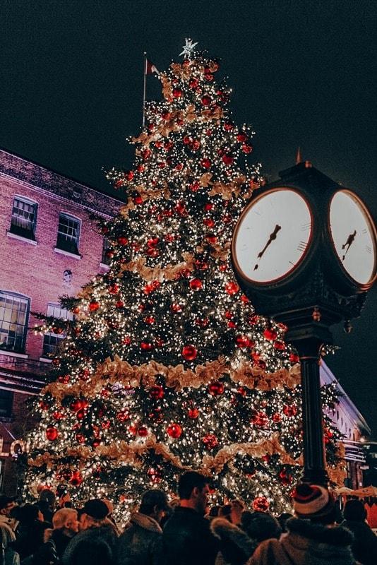 Christmas lights in Toronto