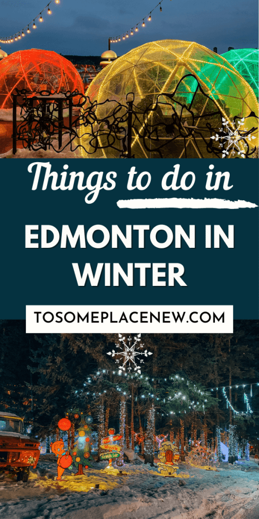 Pin for things to do in Edmonton winters