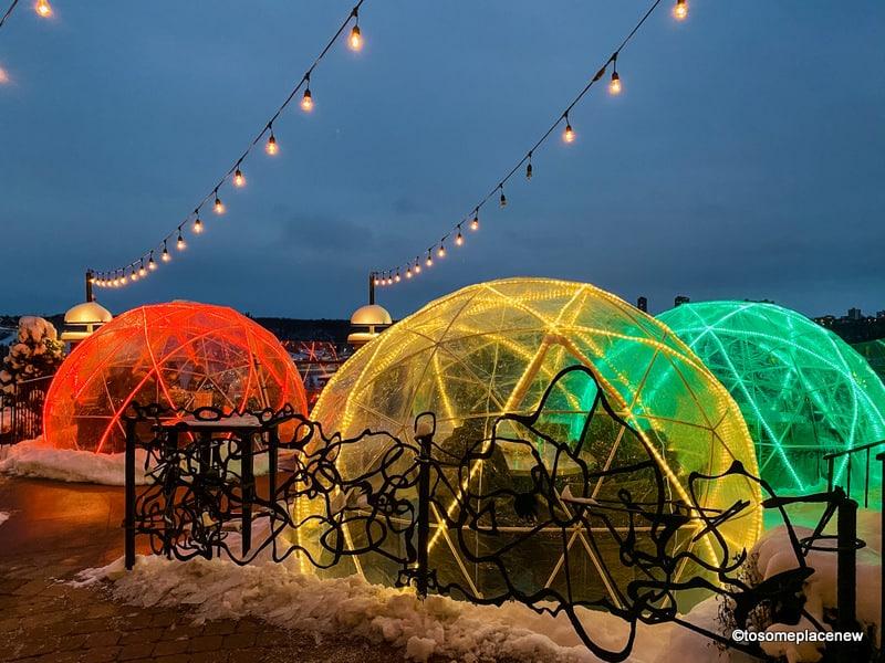 Edmonton winter igloo