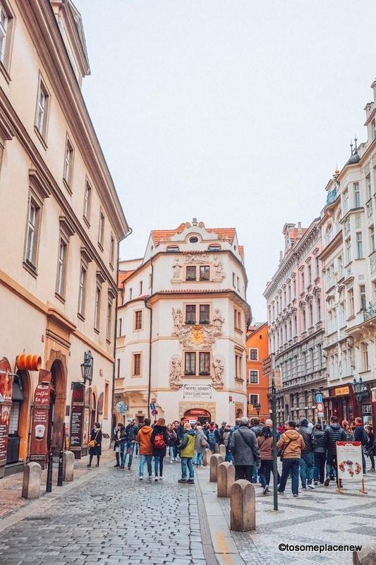 Lanes of Prague old town