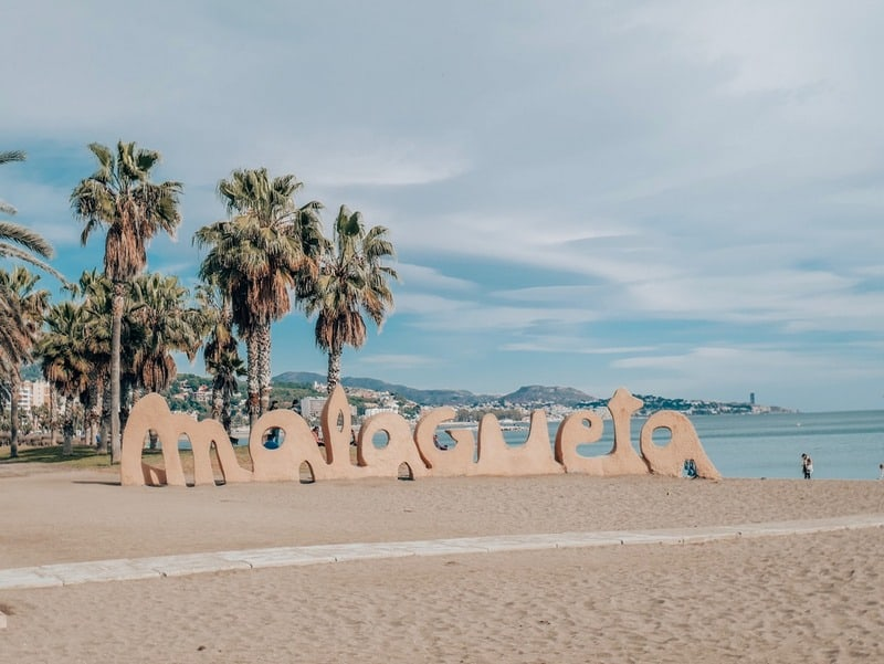 Malaga Spain in February