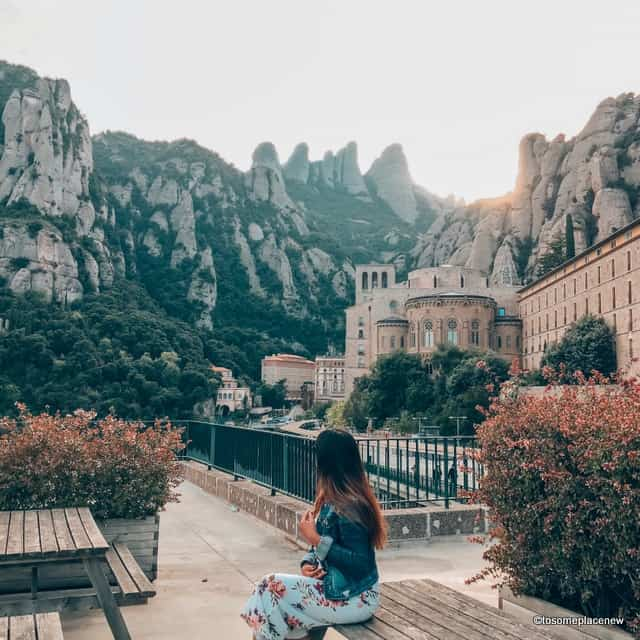 Admiring these stunning mountains in Montserrat Day tour