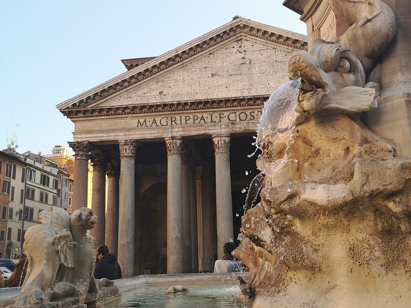 Rome pantheon in February