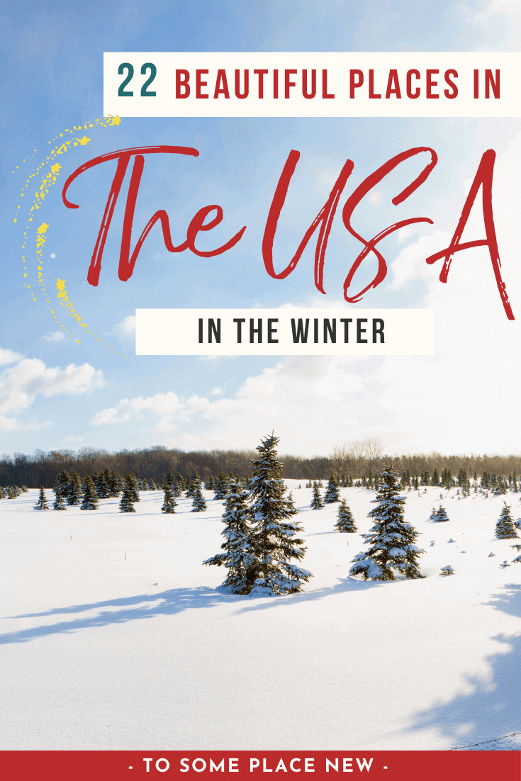 Pin for USA winter destinations