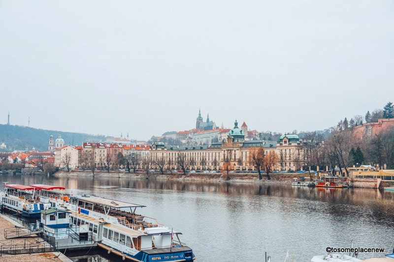 Vltava River in Prague in March