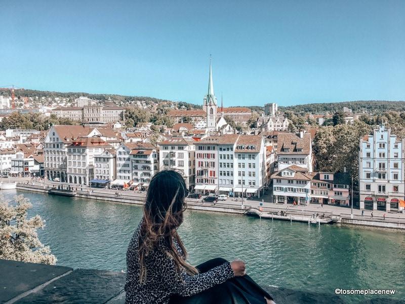 Zurich and Lindehof Hill in Best Switzerland Itinerary 7 days