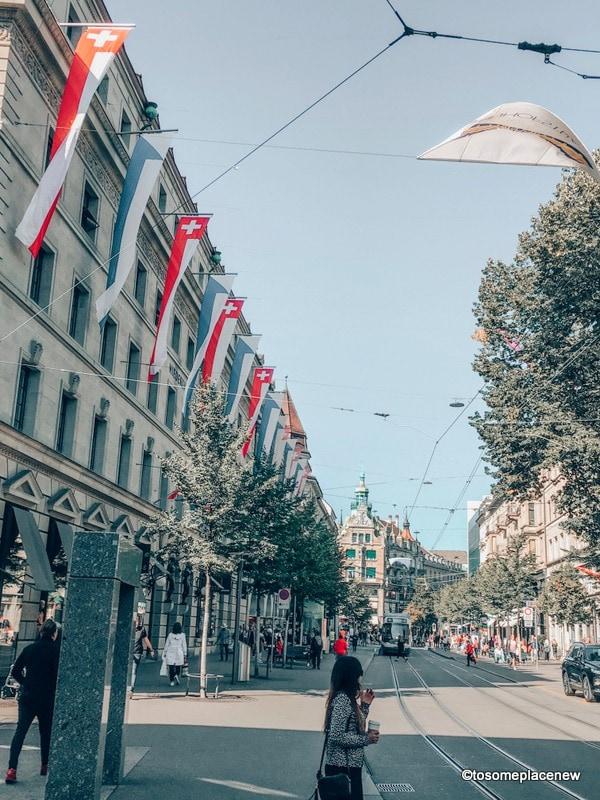 Bahnhofstrasse in 2 days in Zurich Itinerary
