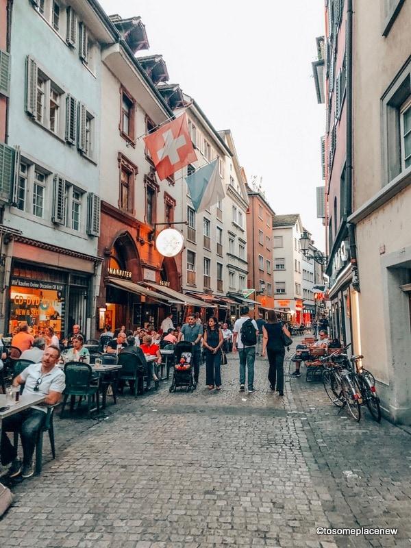 Zurich old town restaurant