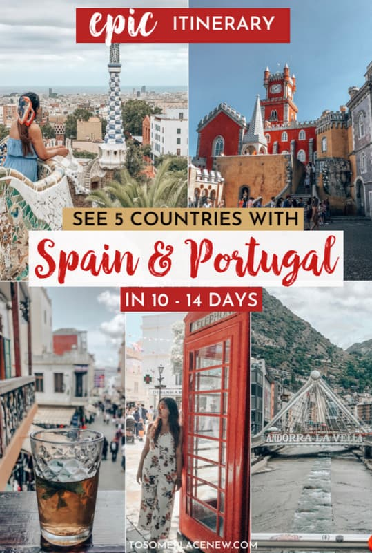 Pin for Spain and Portugal itinerary