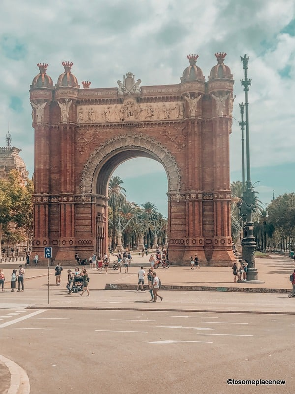 Arc de Triumphe in 2 days in Barcelona Itinerary
