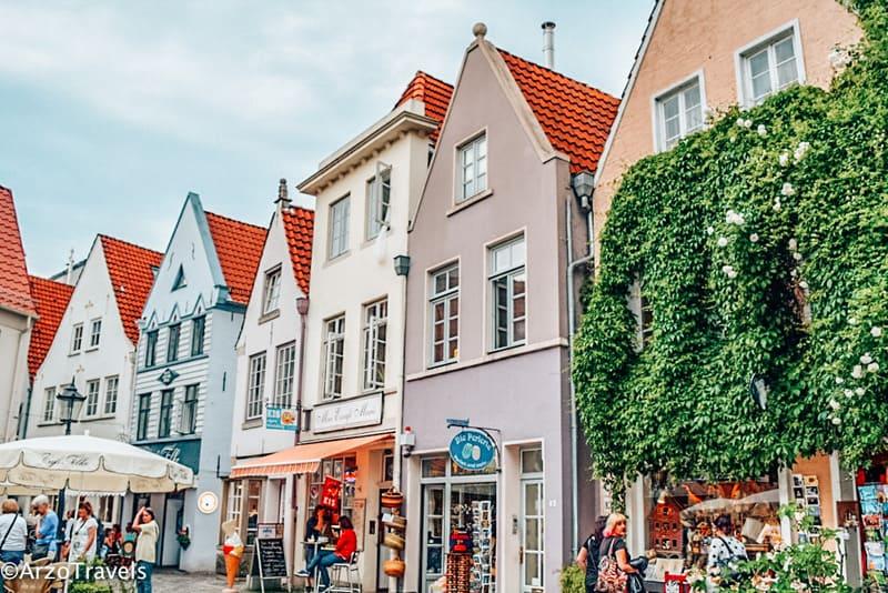 Bremen - Schnoor old town in Bremen Germany