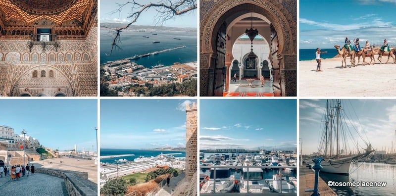 Glimpses of ports near Spain, Morocco and Gibraltar
