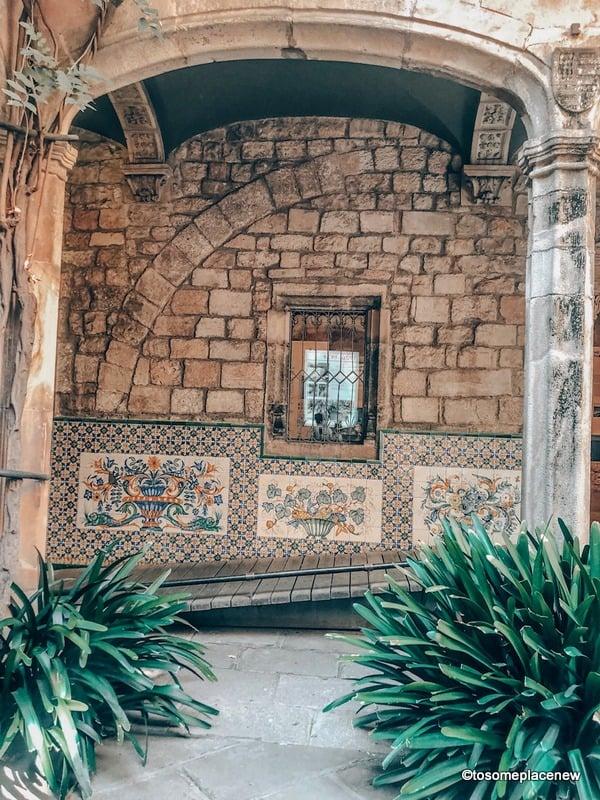 Roman remains in Gothic Quarter