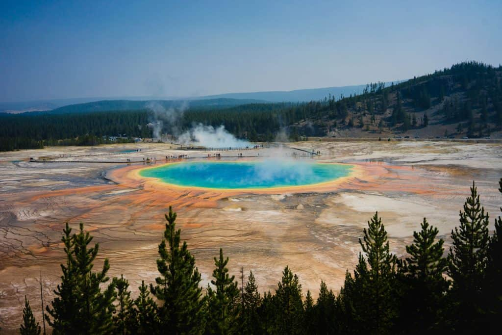 Grand-Prismatic-Spring-at-Fairy-Falls