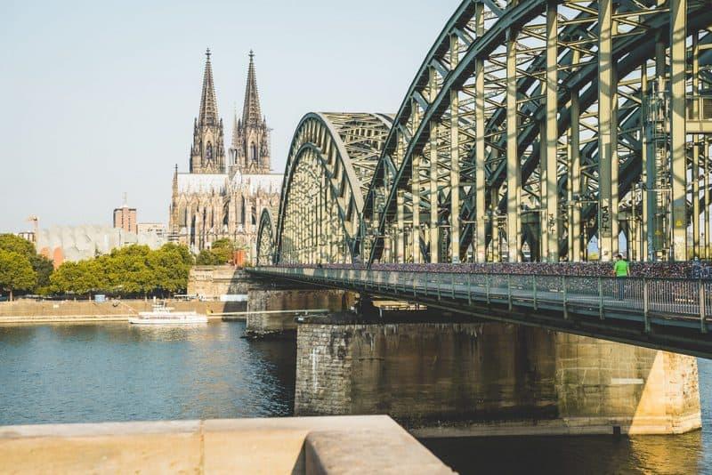 Lock Bridge-Hohenzollernbrücke in Cologne Germany