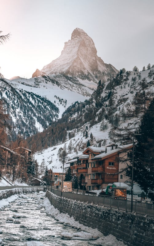 Views of Zermatt in Most beautiful cities in Switzerland