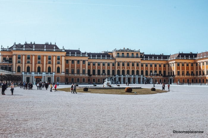 Schonbrunn Palace in March Vienna