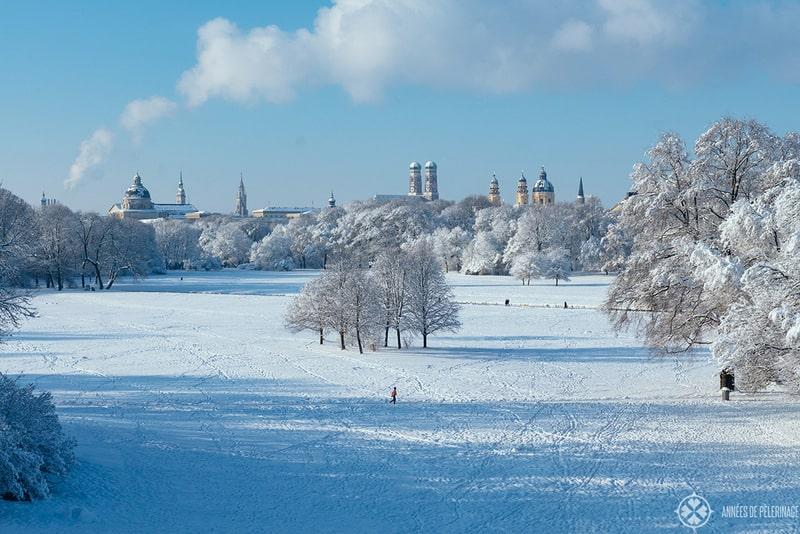 englische garten münchen in winter