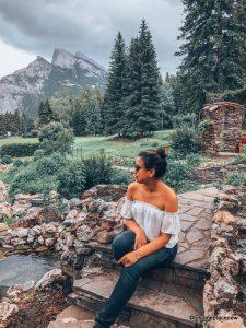 Mayuri in Cascade Gardens in Banff