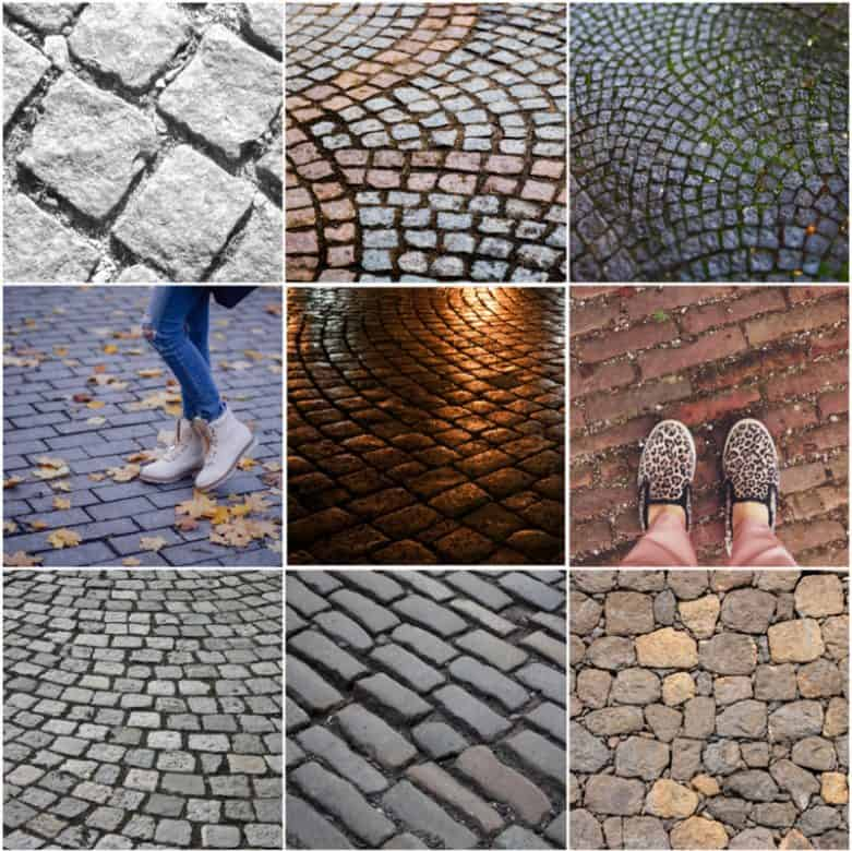 Cobblestones in Europe