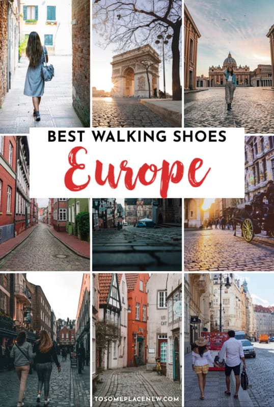 Pin for best shoes for walking on cobblestones for Europe