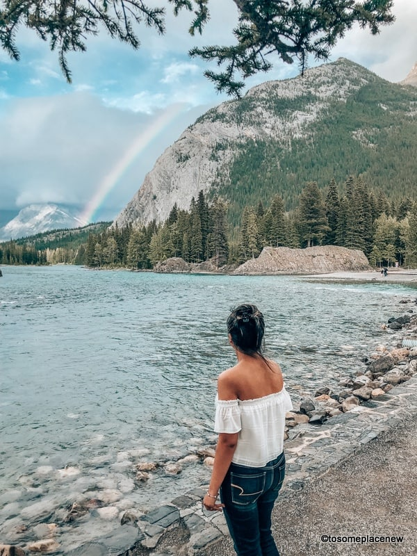 Bow Falls with rainbow