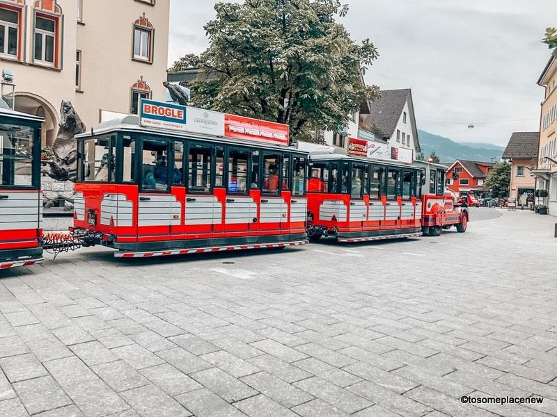 CityTrain in Vaduz